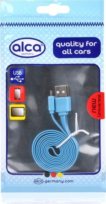 Кабель Alca Micro USB 2.0, 510640, плоский, 1 м, синий кабель alca micro usb 2 0 510640 плоский 1 м синий