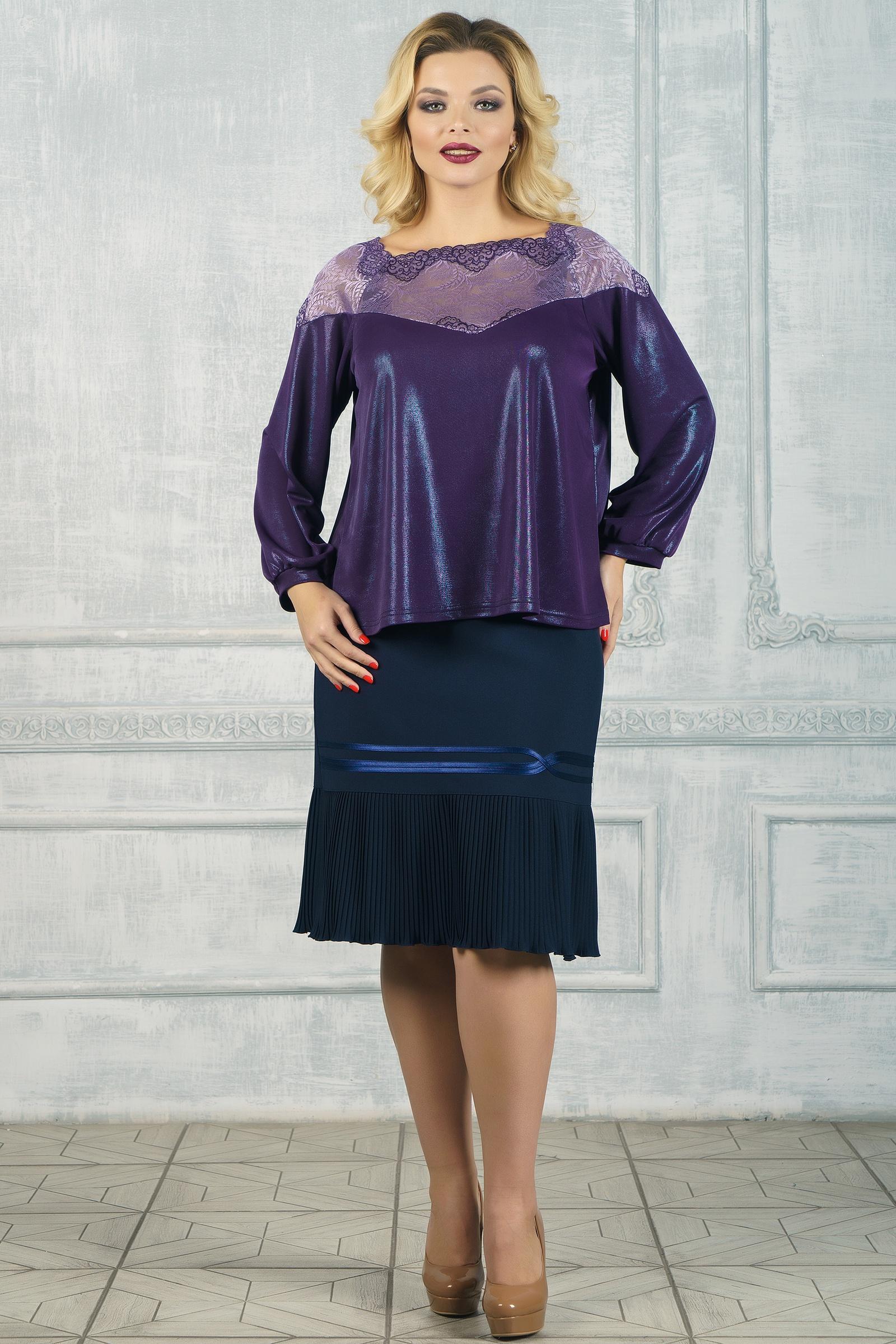 Блузка VERA NOVA футболка из кружева с рисунком и рукавами 3 4