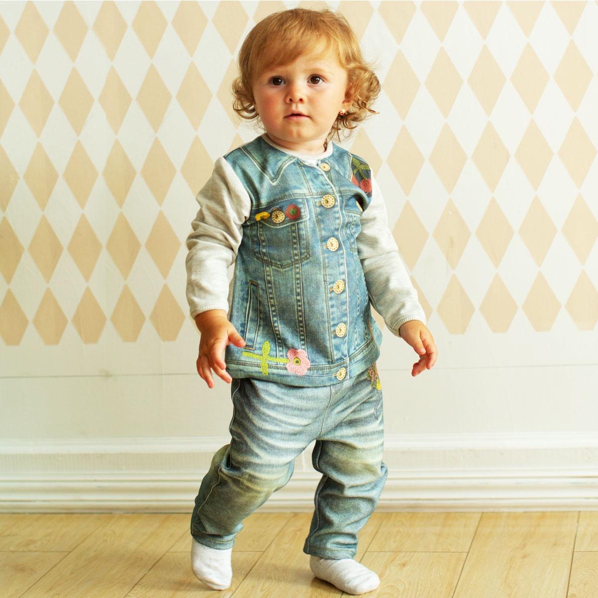 Комплект одежды ПАПИТТО комплект одежды для девочки котмаркот кофточка штанишки цвет розовый 2802 размер 56