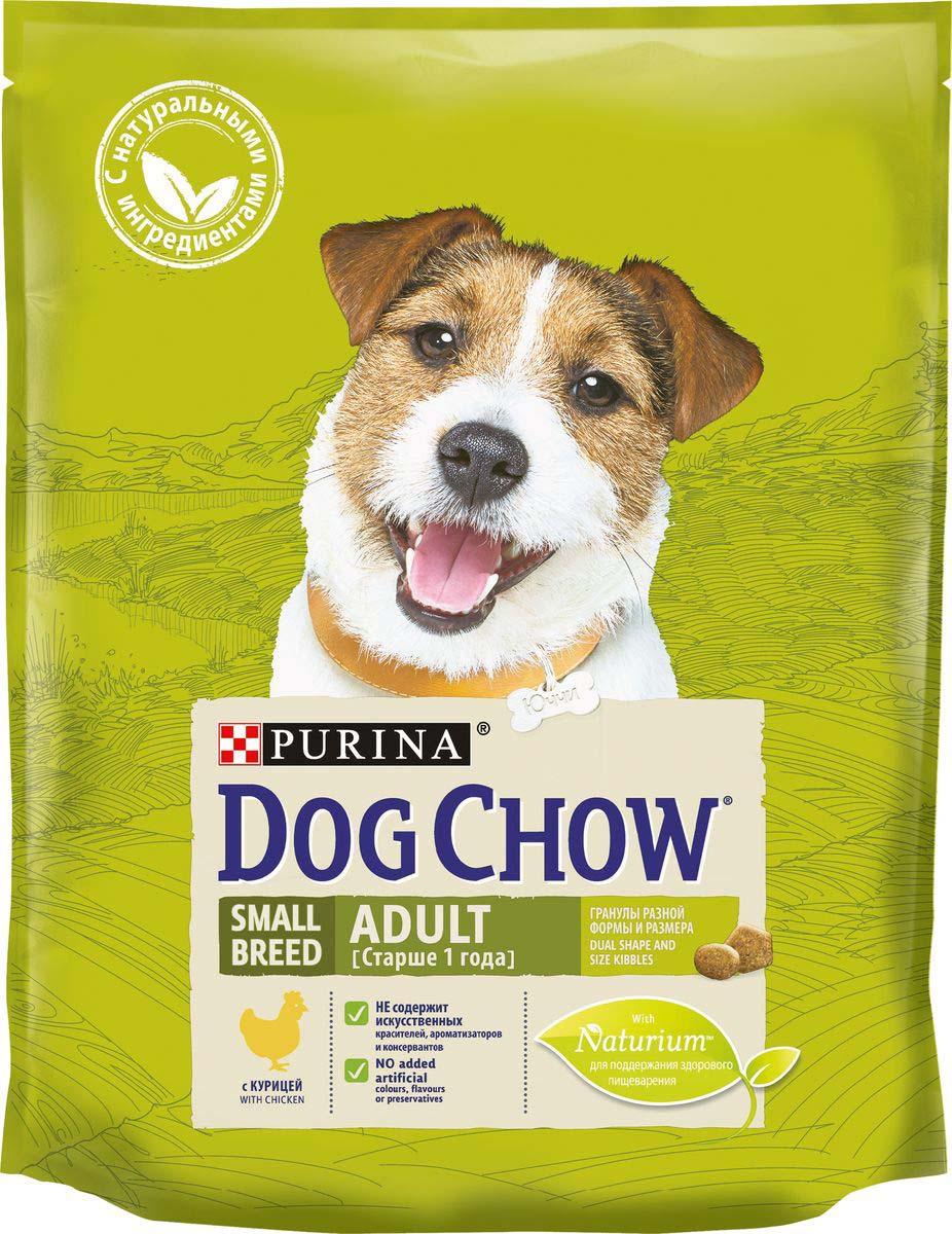"""Корм сухой Dog Chow """"Adult"""", для взрослых собак мелких пород, с курицей, 800 г"""