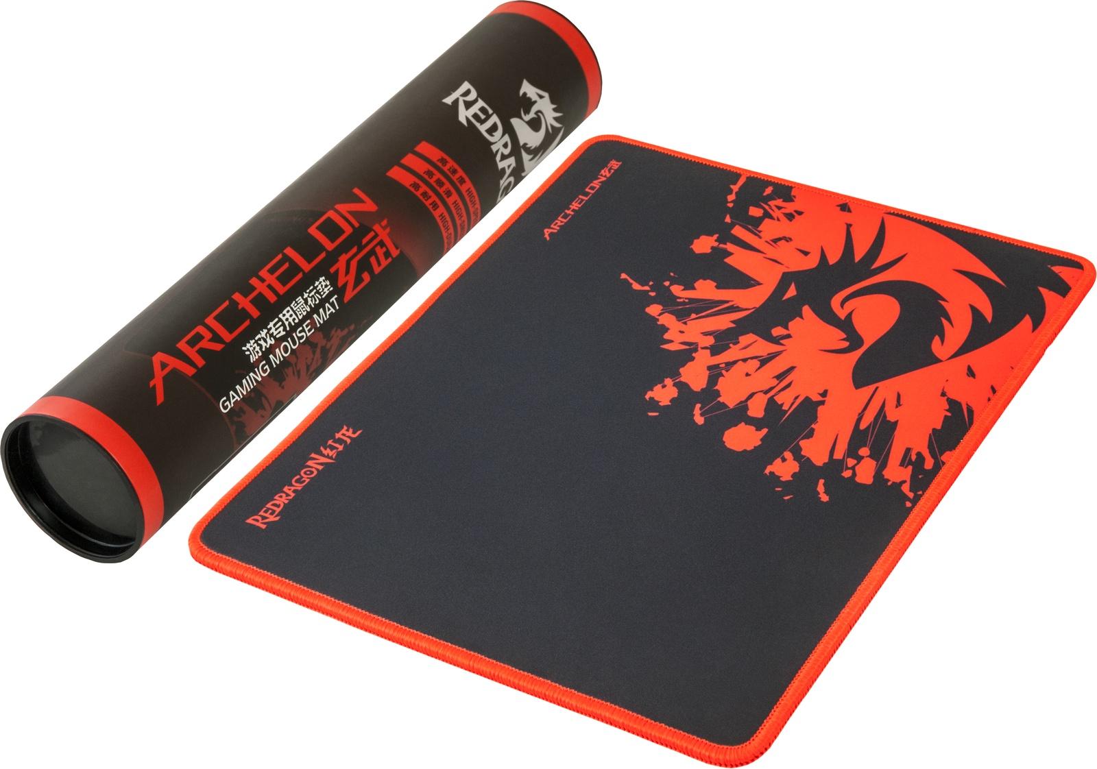 Игровой коврик для мыши Redragon Archelon M 330х260х5 мм, ткань+резина, 70237, черный игровой коврик для мыши archelon m 300х260х5 мм ткань резина redragon
