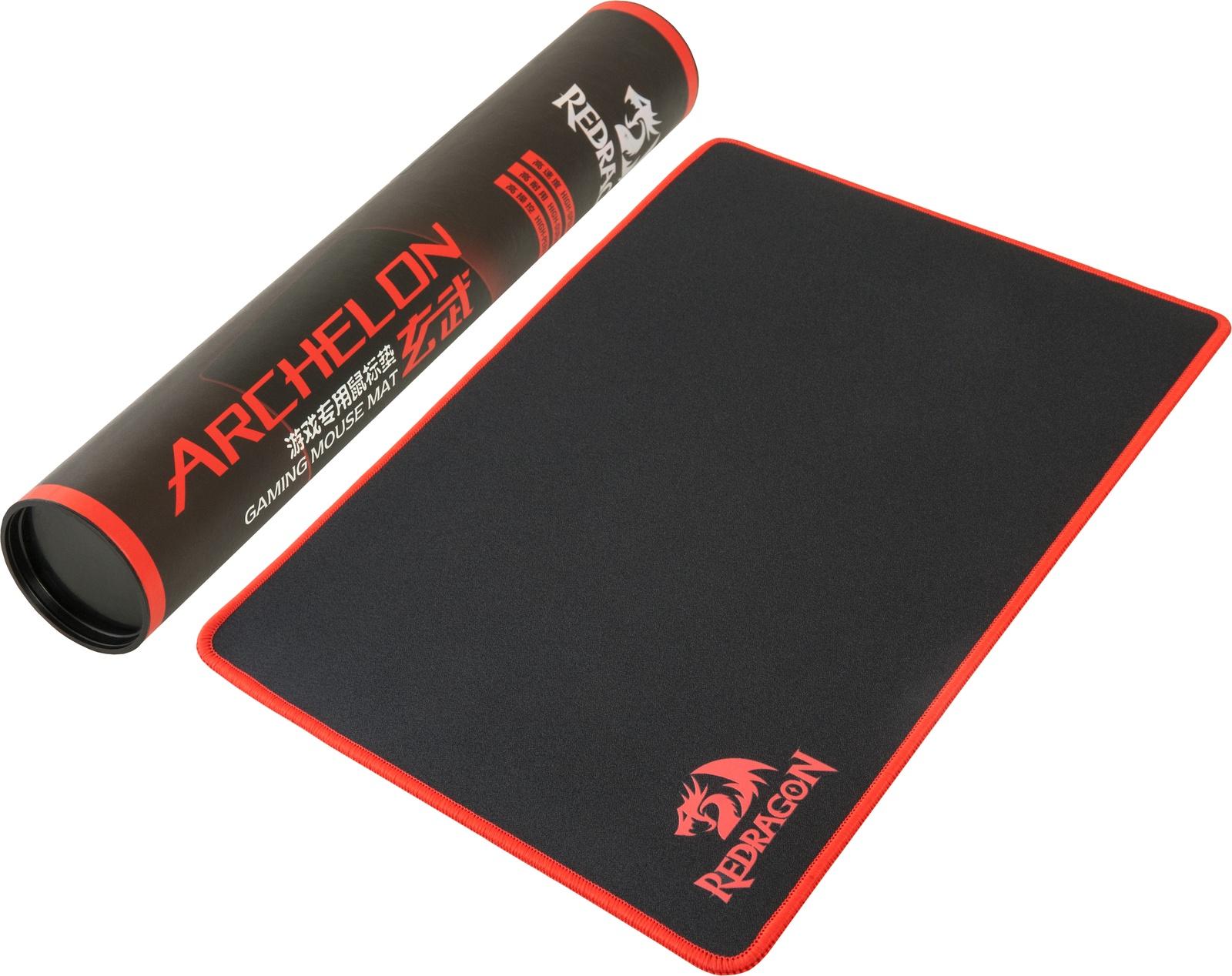 Игровой коврик для мыши Redragon Archelon L 400х300х3 мм, ткань+резина, 70338, черный