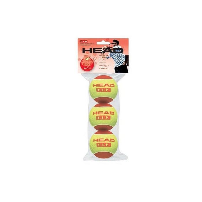 Мяч теннисный Head T.I.P Red для детей, 578213, желтый, 3 шт578213Мячи HEAD T.I.P. - специально разработанные для тренировки и соревнований детей в возрасте от 5 до 10 лет. Тренировочные мячи необходимы для отработки правильной техники. Хороший контроль и удовольствие от процесса тренировки. HEAD T.I.P. Red (желто-красные) - на 75% меньше скорость откскока. Для детей в возрасте 5-8 лет. Размер корта 11х5-6 м. Мяч значительно больше стандартного и мягче, для большего контроля. Упакованы в полиэтиленовый пакет с хэдером. 3шт. Родина бренда: Китай