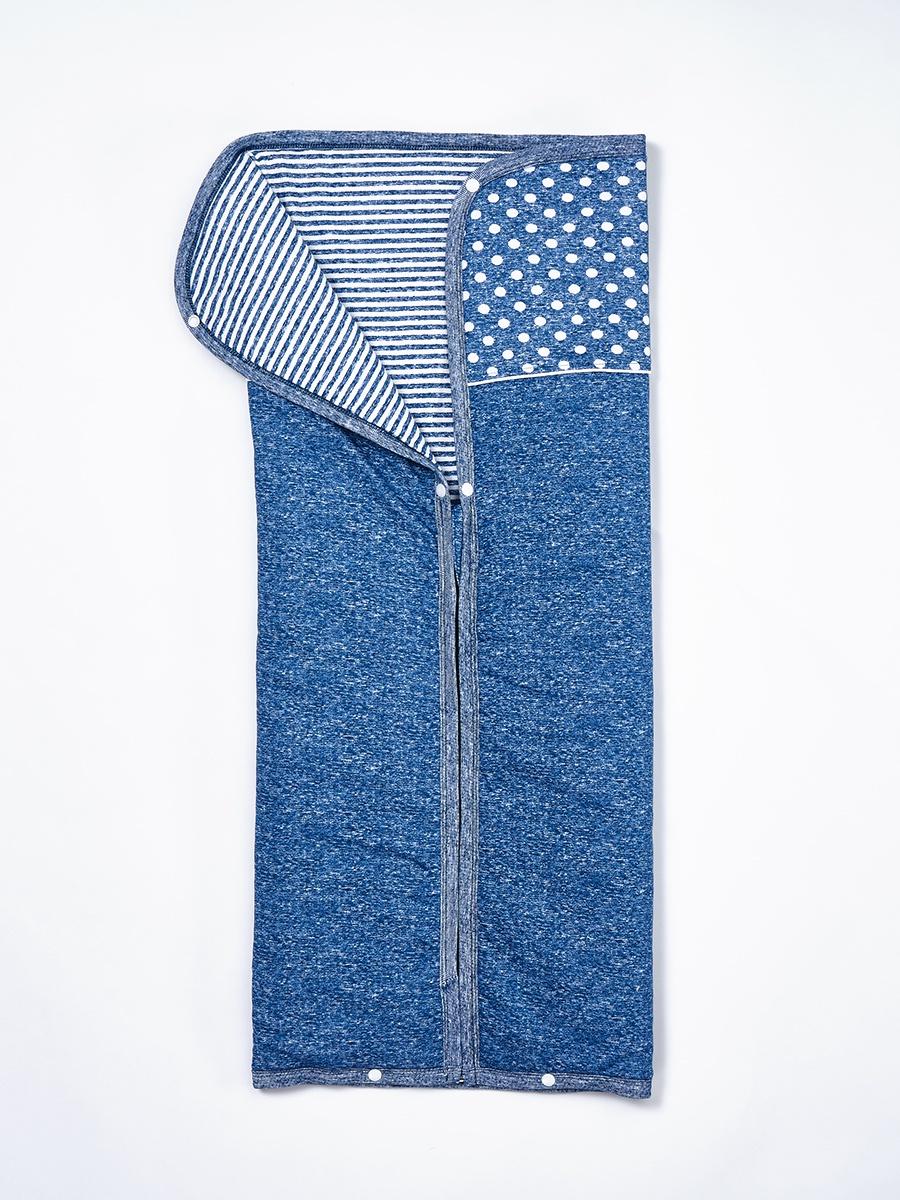 Конверт для прогулок/в коляску FIM 7788-5 Синий, 0/12мес размер7788-5Детское одеяло-конверт на кнопках из приятного хлопка - интерлока с наполнителем. Одеяло складывается в уютный конвертик и застегивается с помощью молнии и кнопок.