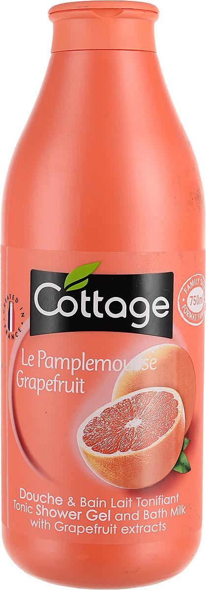 Гель для душа и пена для ванн Cottage Грейпфрут, тонизирующий, 750 мл гель для душа и пена для ванн cottage зеленый чай бодрящий 750 мл