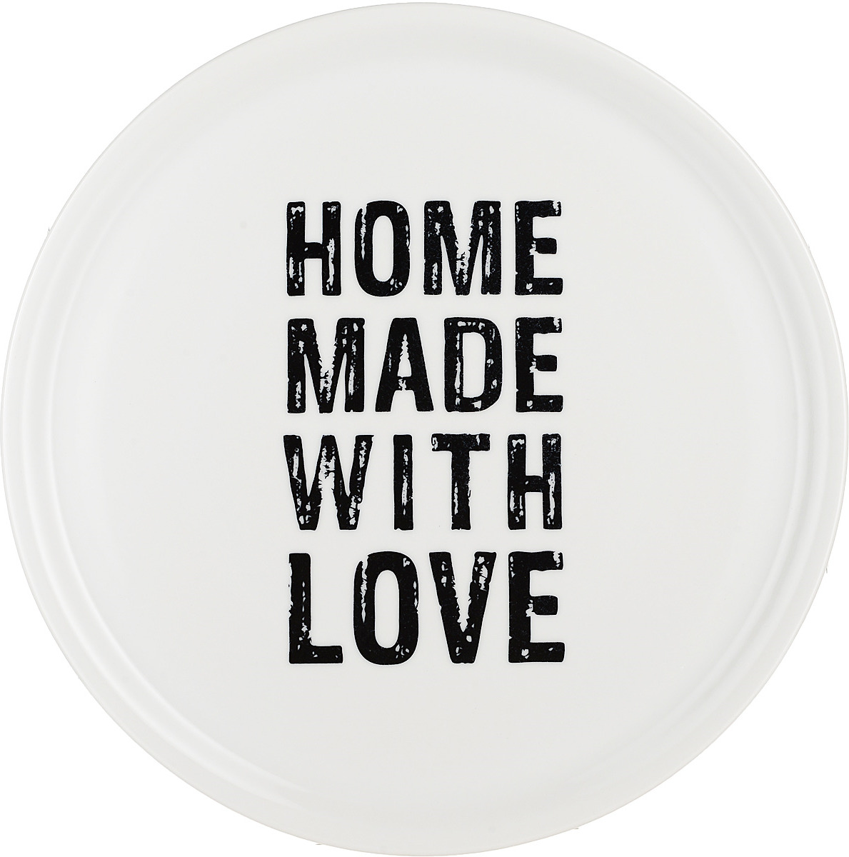 Тарелка для пиццы Tescoma Home Made With Love, цвет: белый, черный, 33 см тарелка tescoma legend 385324