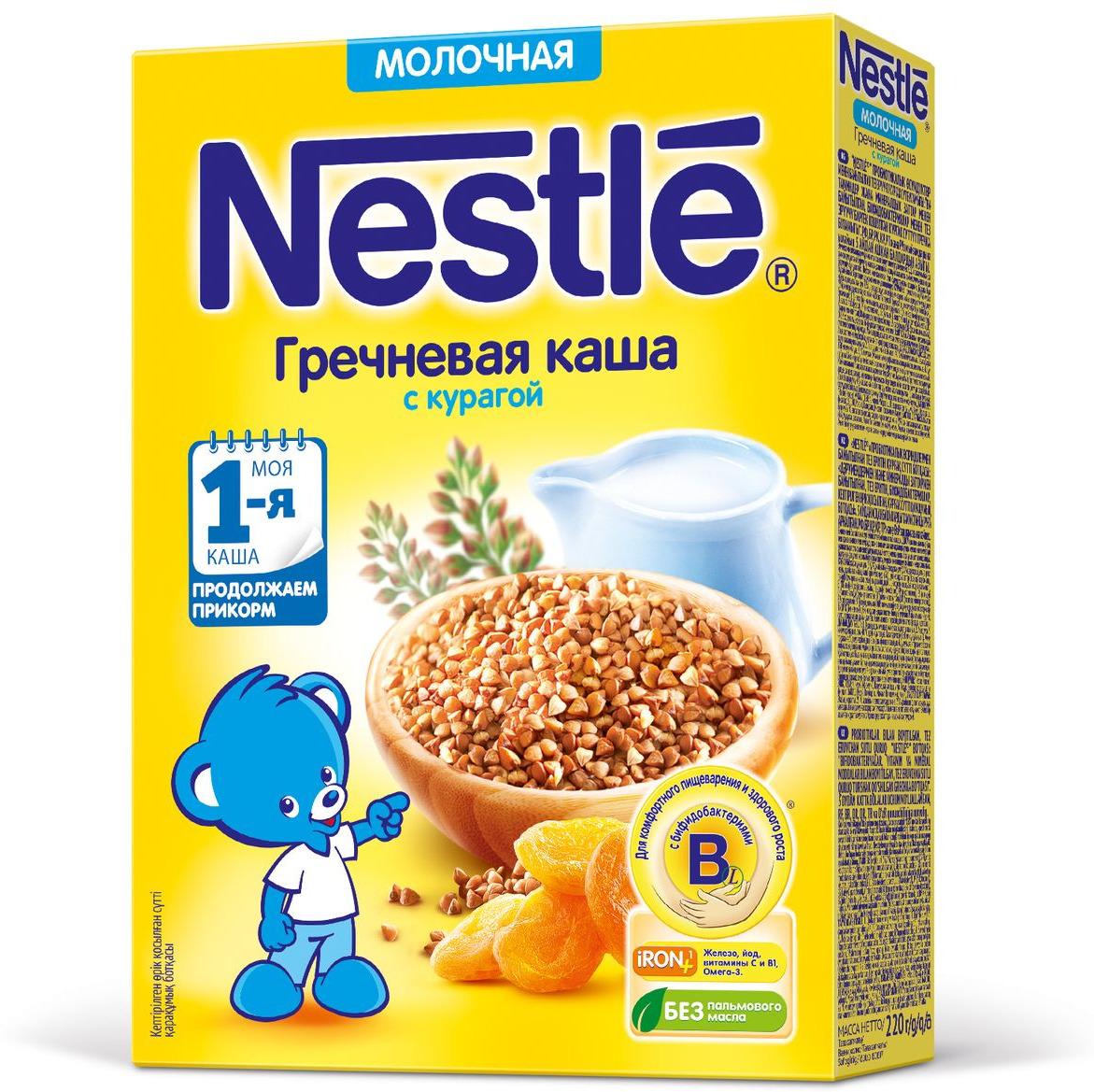 Nestle гречневая с курагой каша молочная, 220 г