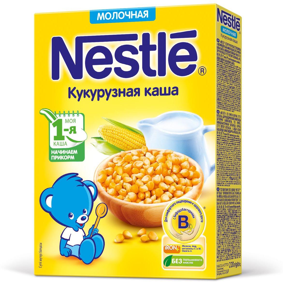 Nestle Кукурузная каша молочная, 220 г
