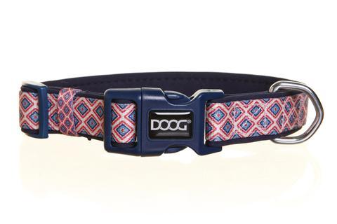Ошейник для собак DOOG Collars Gromit, COLNRC-L, розовый, голубой, размер L (42-62 см)