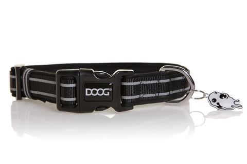 """Ошейник светоотражающий для собак DOOG """"Collars Lassie"""" (Австралия), черный, 42-62см, L"""