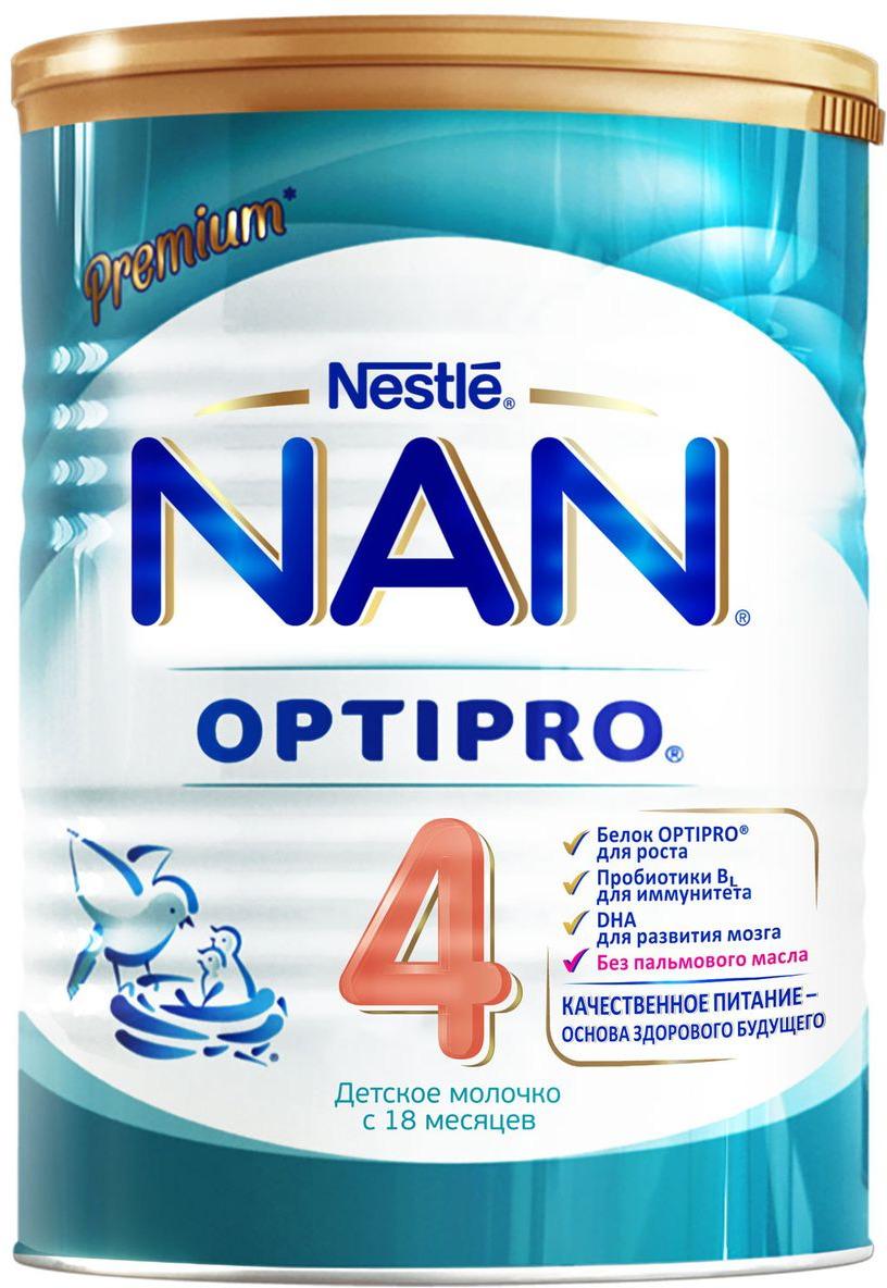 NAN 4 OPTIPRO молочко, с 18 месяцев, 400 г12297792Знаете ли вы, что белок определяет здоровье вашего ребенка на всю жизнь? Научно доказано, что белок - один из самых важных нутриентов для роста и развития вашего ребенка, включая формирование мозга, мыщечной ткани и других органов. Качество и