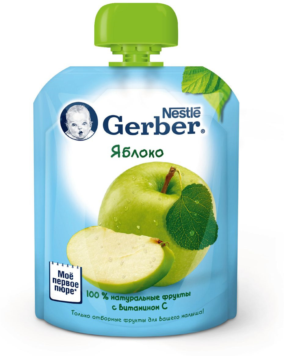 Gerber пюре яблоко, 90 г