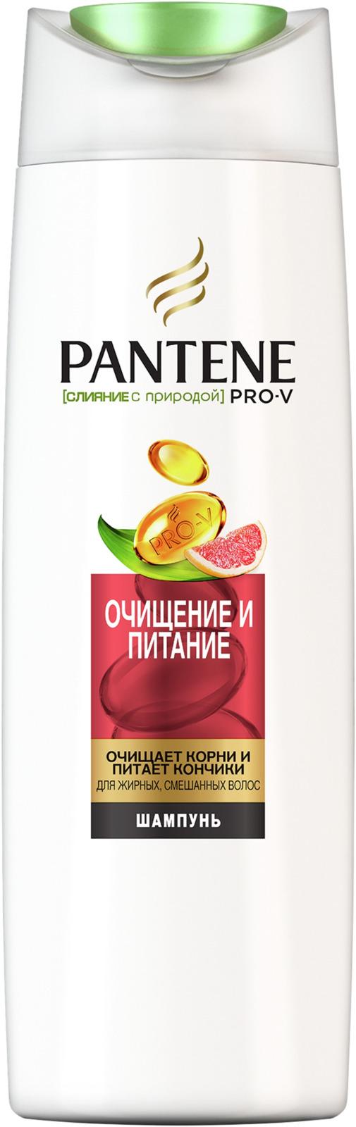 Шампунь Pantene Pro-V Слияние с природой. Очищение и питание, 400 мл