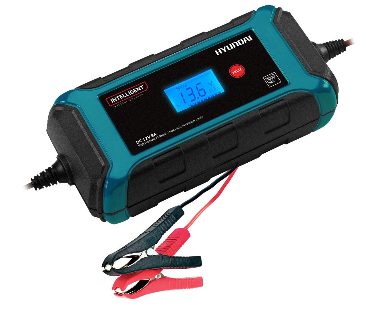 Зарядное устройство Hyundai HY 800 для АКБ автомобилей, черный зарядное устройство кулон 715d