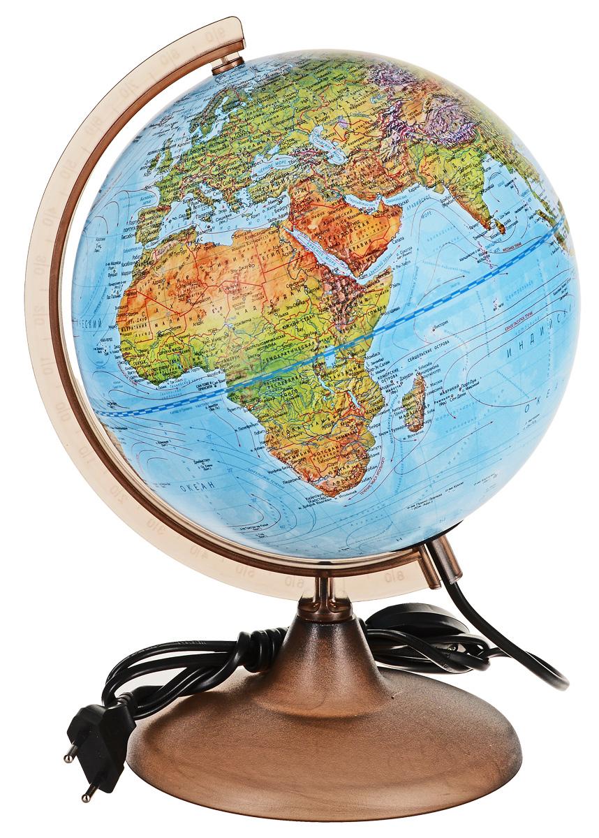 Глобус ландшафтный Глобусный Мир с подсветкой, 10225, диаметр 21 см глобусный мир глобус ландшафтный диаметр 32 см