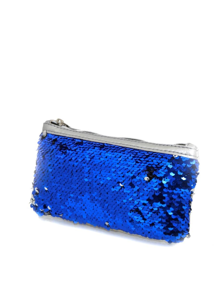 Пенал-косметичка Union 61901, серебристый, синий