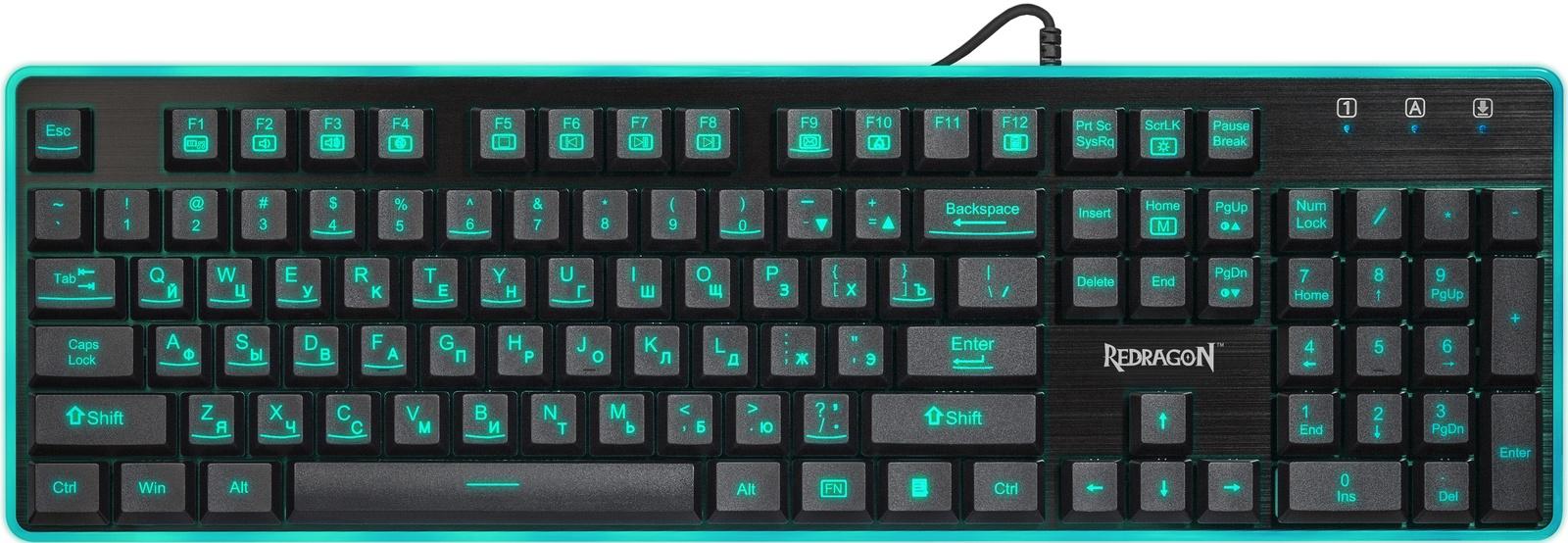 лучшая цена Игровая клавиатура Redragon Dyaus RU, 75076, черный