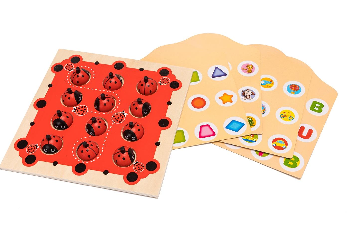 Мемори-игра развивающая настольная Bradex «12 божьих коровок» для детей, DE 0321 цена