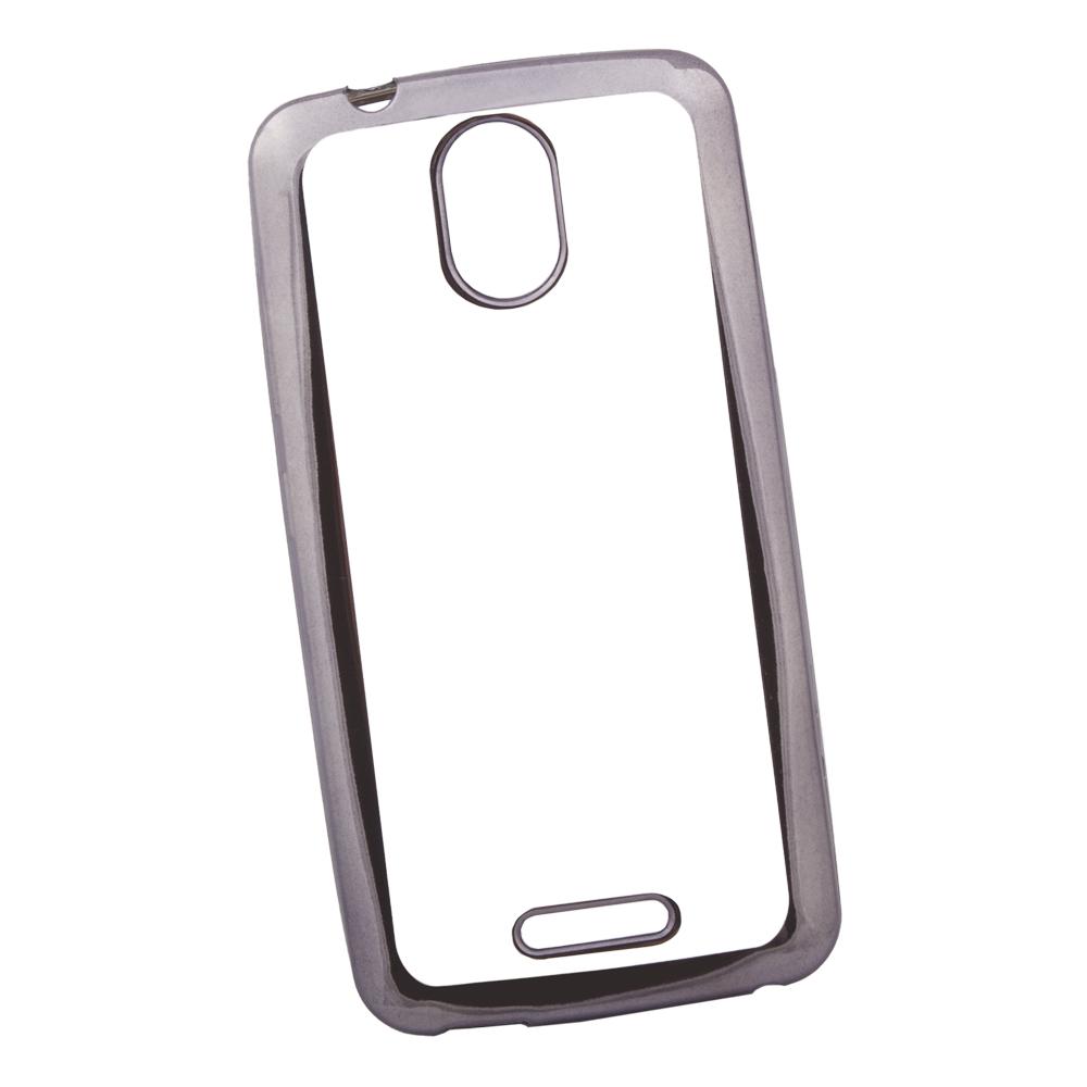 Чехол Liberty Project для ZTE Blade A310 TPU, 0L-00030925, прозрачный с черной хром рамкой мобильный телефон zte n1 черный