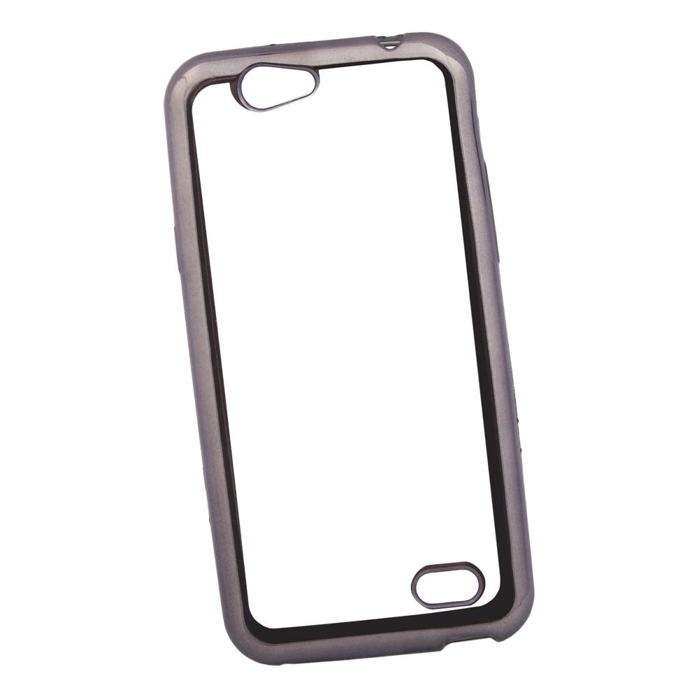 Чехол Liberty Project для ZTE Blade A465 TPU, 0L-00030926, прозрачный с черной хром рамкой мобильный телефон zte n1 черный