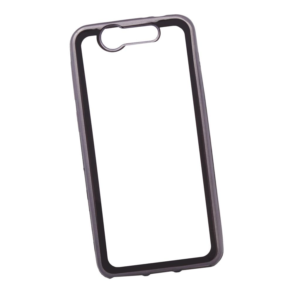 Чехол Liberty Project для ZTE Blade S7 TPU, 0L-00030922, прозрачный с черной хром рамкой мобильный телефон zte n1 черный
