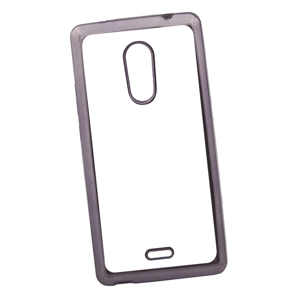 Чехол Liberty Project для ZTE Blade X9 TPU, 0L-00030924, прозрачный с черной хром рамкой мобильный телефон zte n1 черный