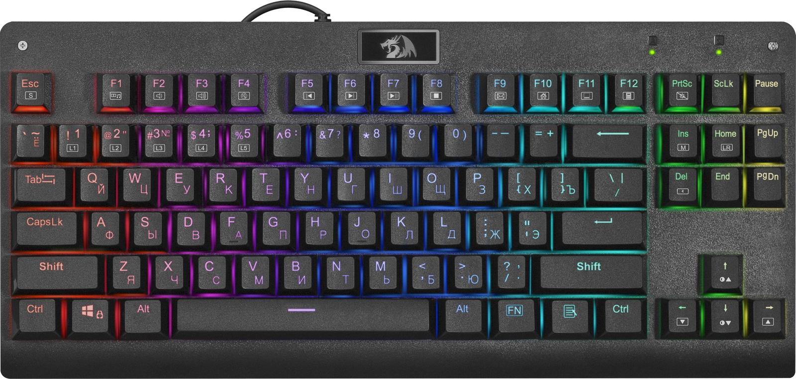 Механическая клавиатура Redragon Dark Avenger RU,RGB подсветка,компактная