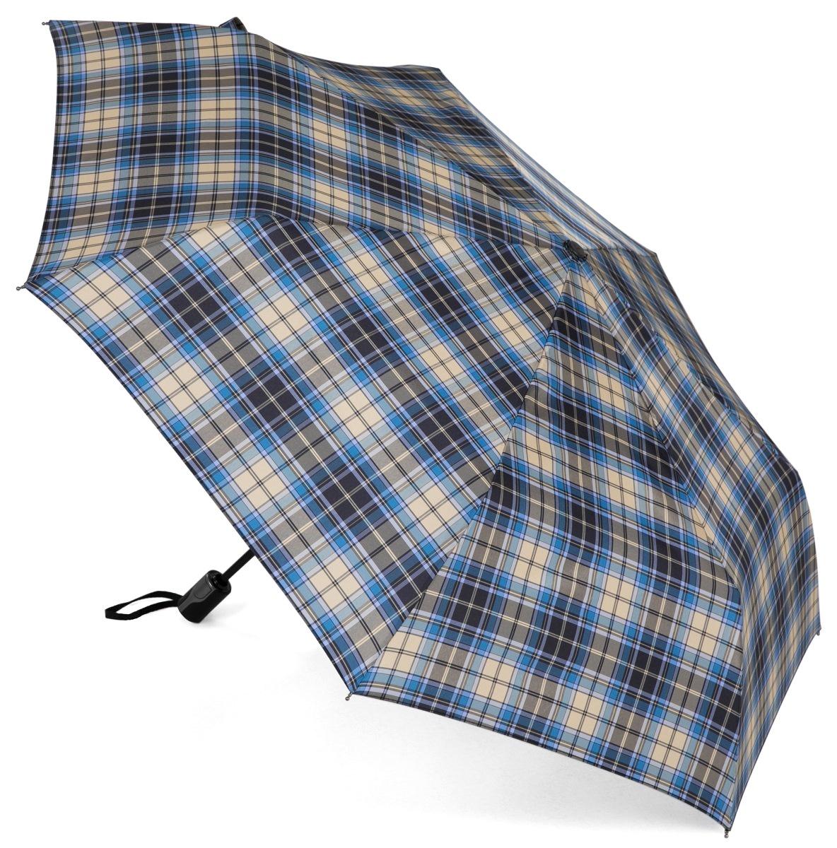Зонт Три слона 367-D, голубой, черный