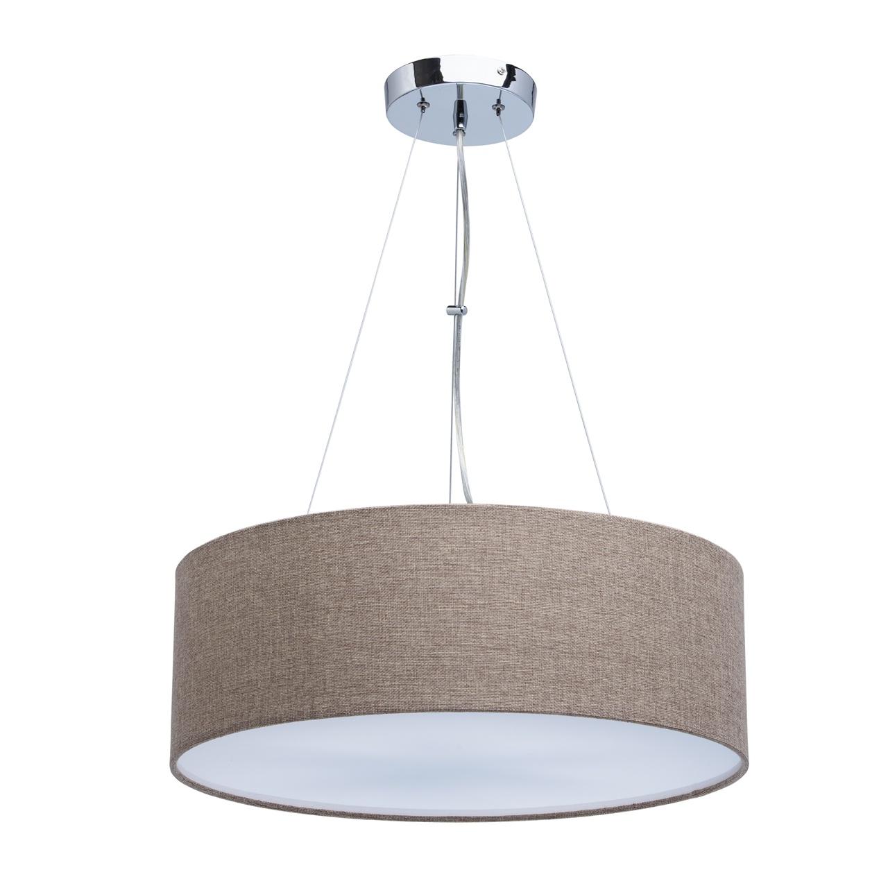 453011106 Дафна 6*40W E27 220 V люстра453011106Люстра «Дафна» — прекрасное решение для освещения интерьера в скандинавском стиле. Абажур из домотканого полотна натурального бежевого цвета смотрится атмосферно и уютно. Источники света снизу закрыты вставкой из акрила, что дает слегка приглушенное, интимное освещение. Идеальный вариант для зонального освещения.