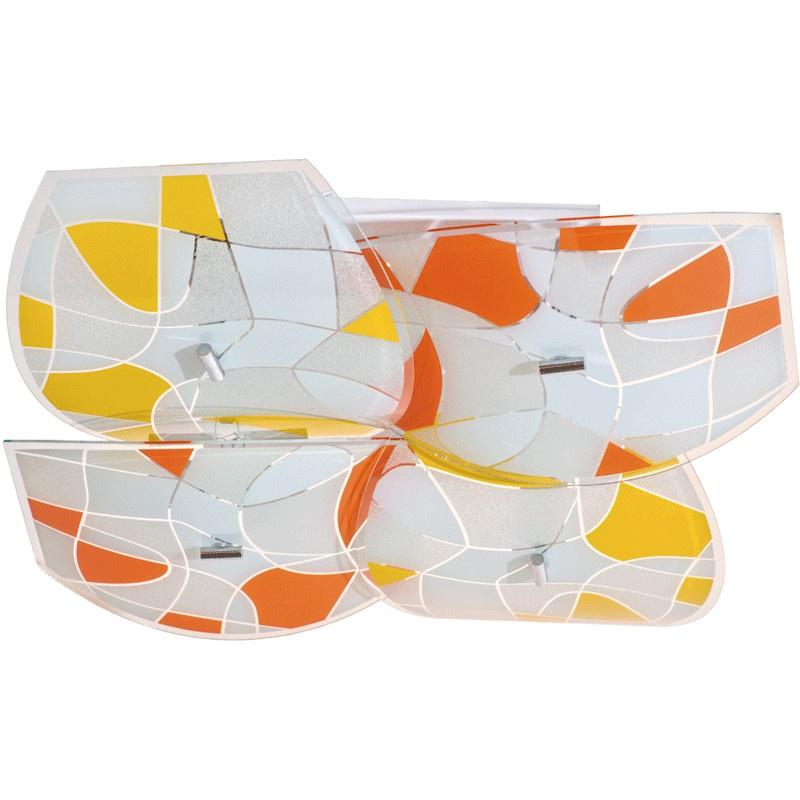 262014004 Радуга 8*60W Е27 220 V люстра262014004Оригинальный потолочный светильник «Радуга» подойдет для любого помещения. Четыре стеклянных плафона крепятся на металлическом основании цвета хрома. Они декорированы желто-белой и оранжево-белой мозаикой самых теплых оттенков, выглядят очень живо и поднимают настроение. Свет, преломляясь в этой мозаике, приобретает уютный мягкий оттенок. «Радуга» добавит в интерьер нотки позитива и домашнего тепла. Рекомендуемая площадь освещения 24 кв.м.