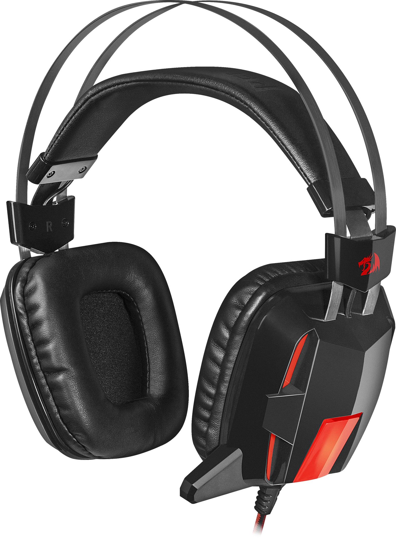 Игровые наушники Redragon Lagopasmutus 2 красный + черный, кабель м, 75165