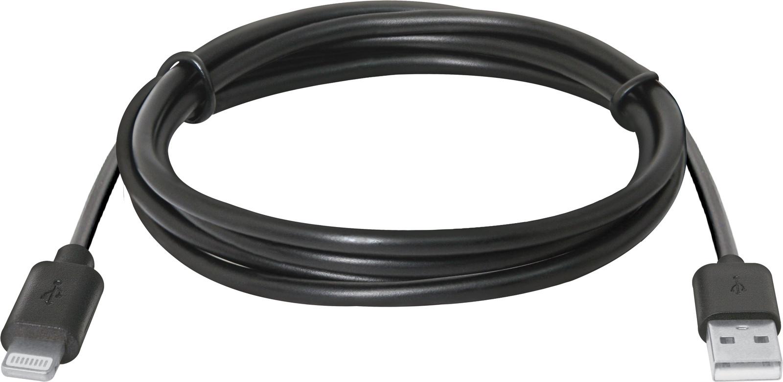 USB кабель Defender ACH01-03BH для Apple, USB(AM)-Lightning, 1 м, 87478, черный все цены