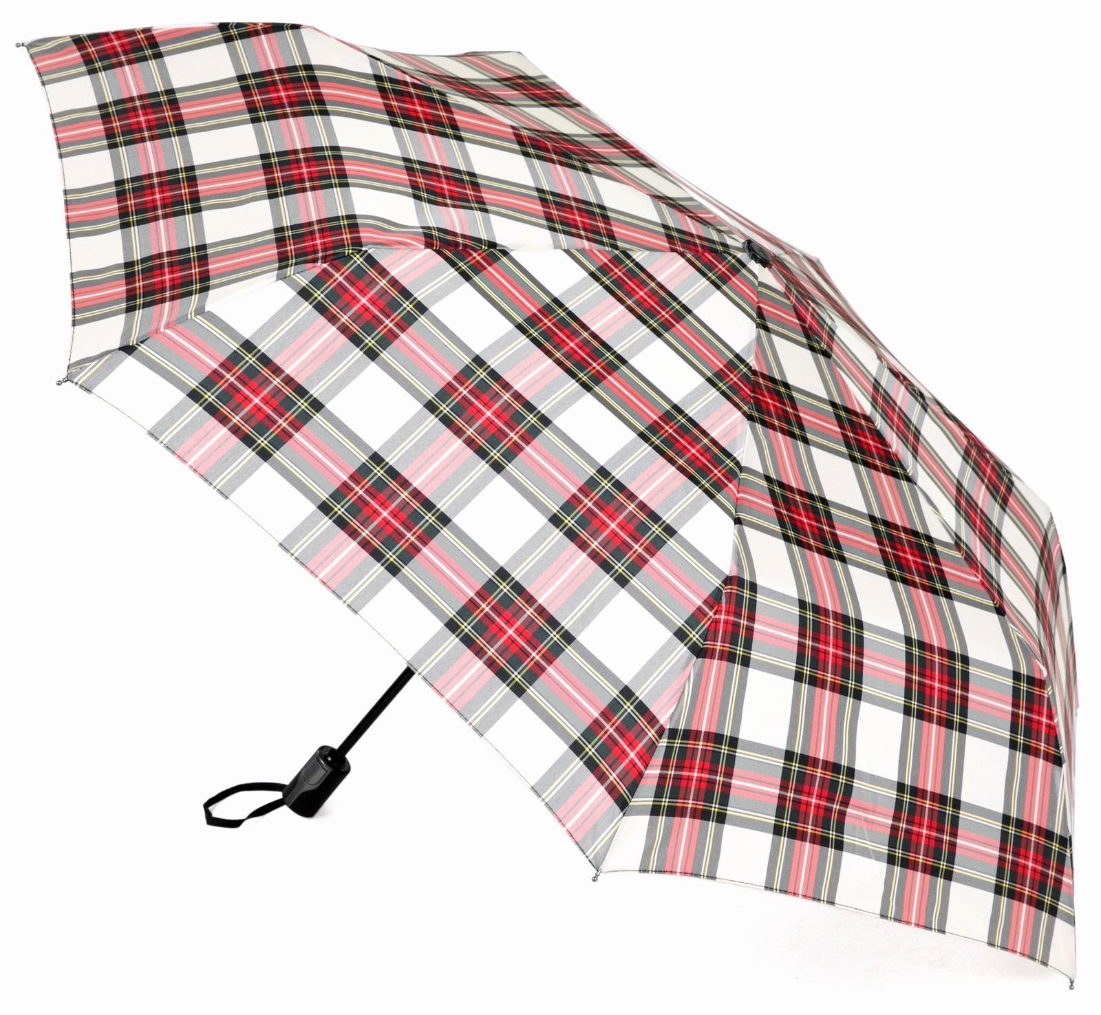 Зонт Три слона 367-D, белый, красный