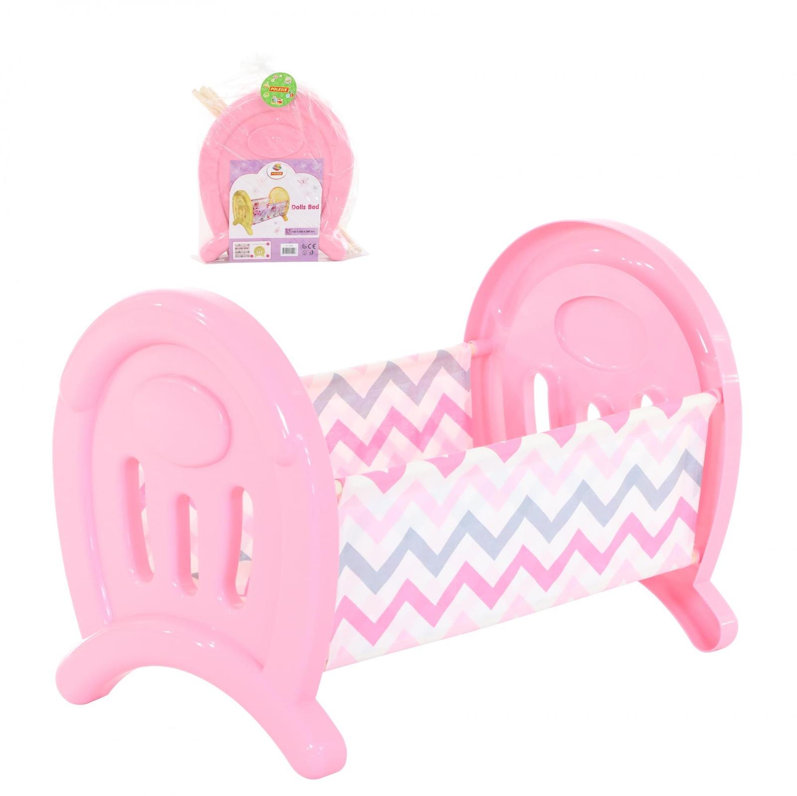 Кроватка Coloma Y Pastor 55996_PLS, сборная, для кукол, розовый кроватка качалка для кукол полесье кроватка качалка сборная для кукол 2
