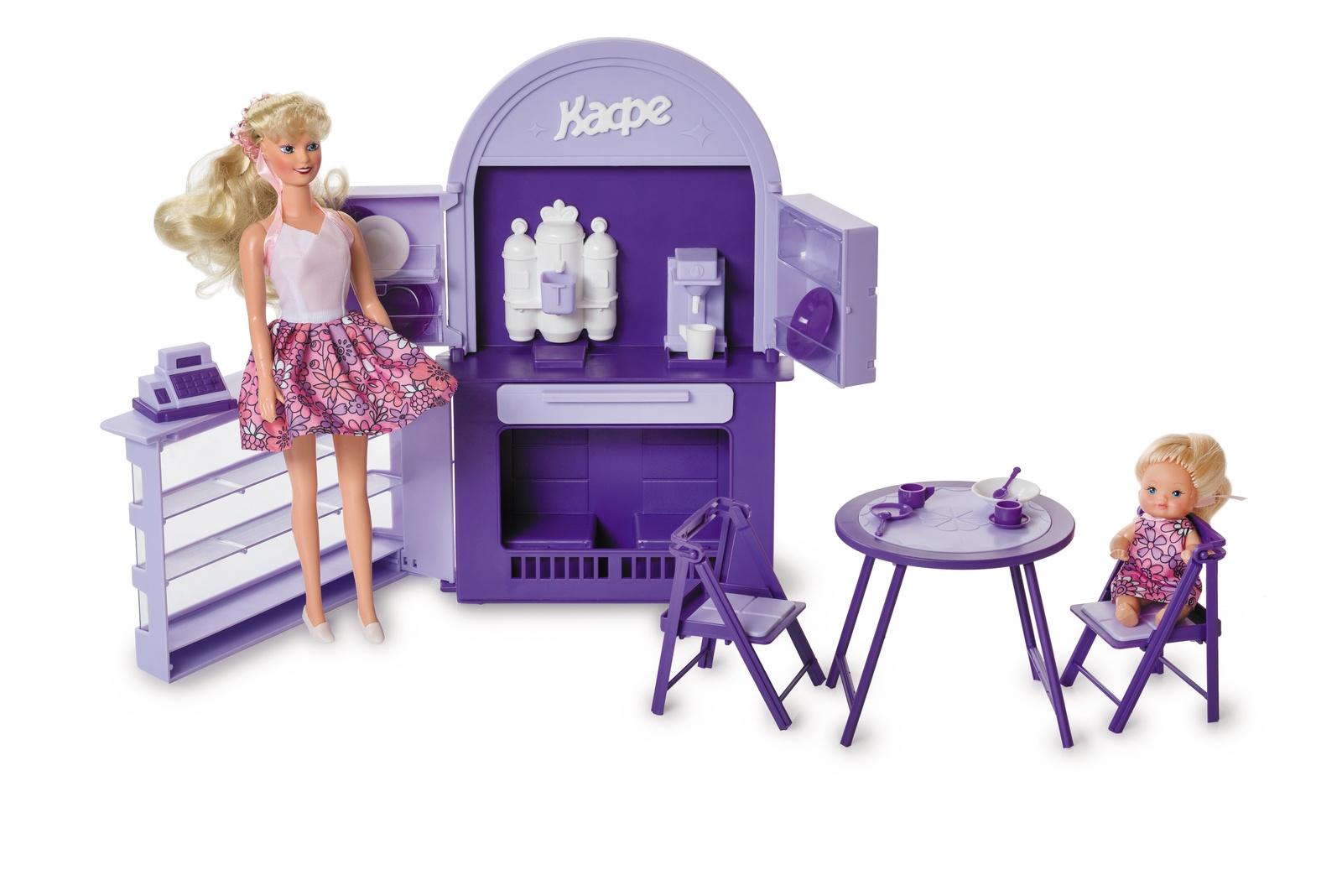Мебель для кукол Огонек Кафе-бар, С-1501, фиолетовый кукольная мебель огонек колыбель коллекция