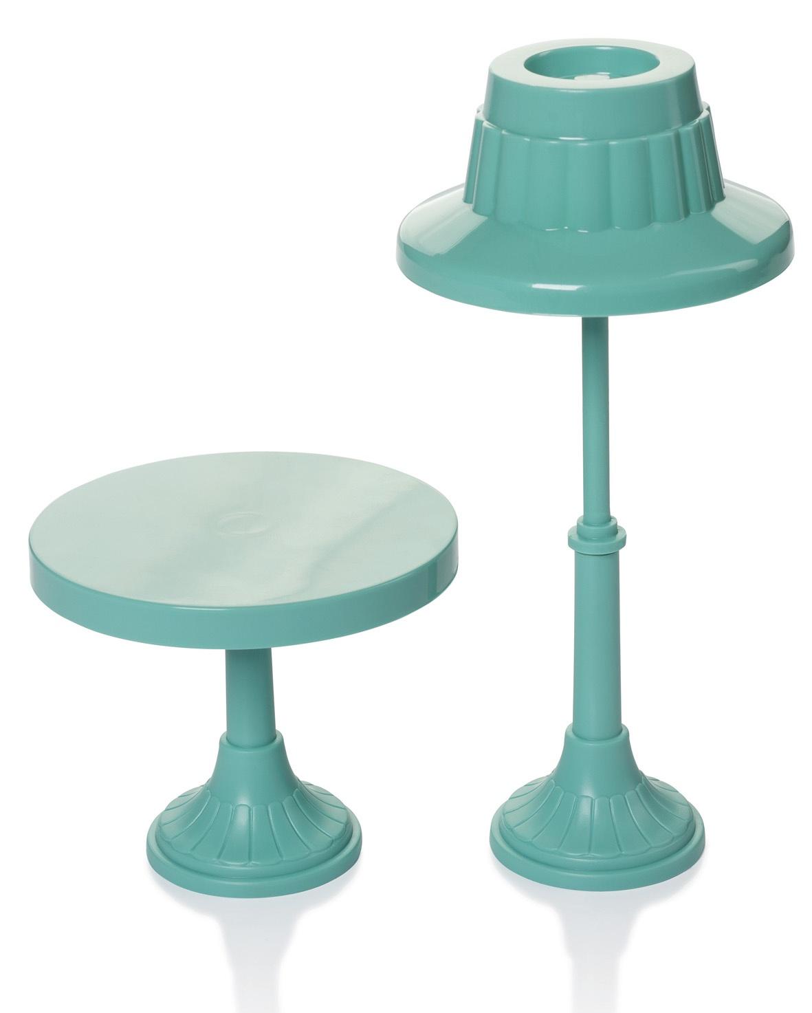 Торшер и столик Огонек С-1493, зеленый