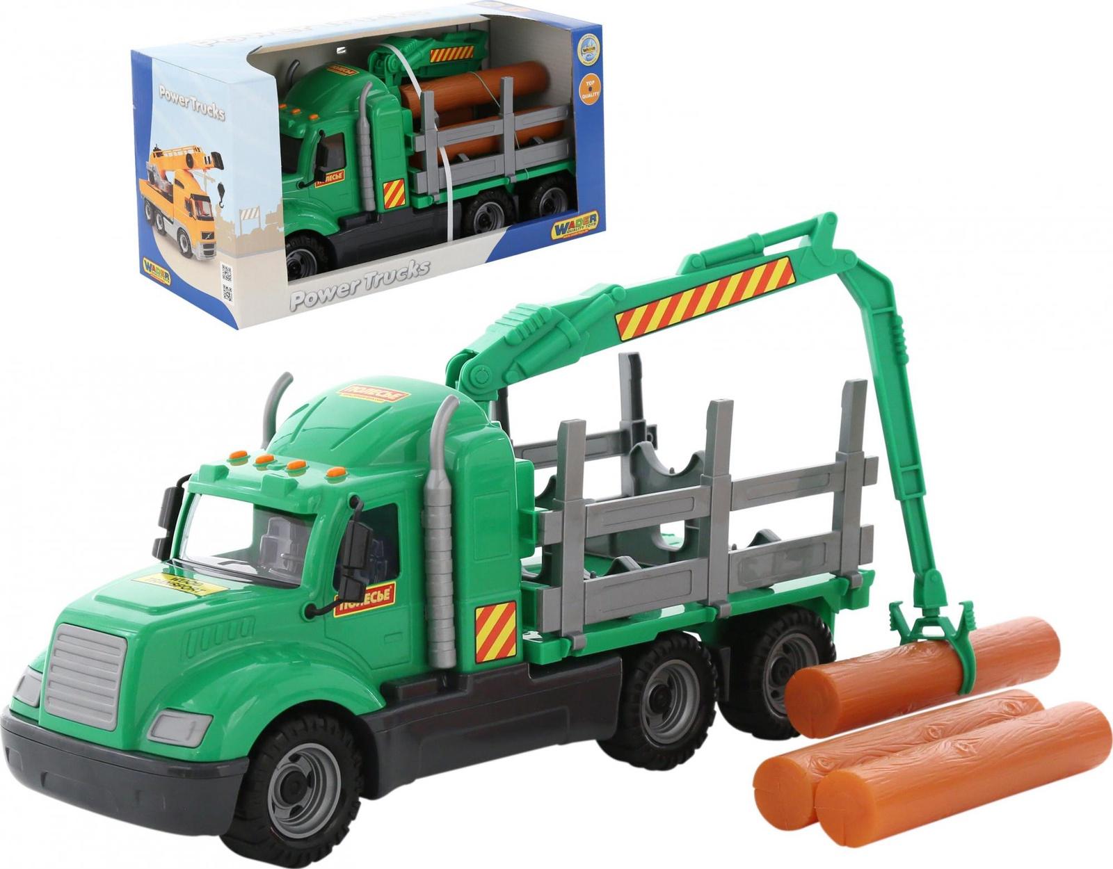 Автомобиль-лесовоз Polesie Майк 55644_PLS, зеленый лесовоз полесье престиж разноцветный 42 см 44198