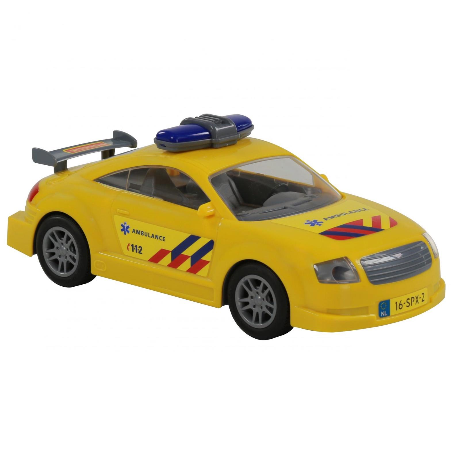 Автомобиль Polesie Скорая помощь 71293_PLS, инерционный, желтый автомобиль polesie скорая помощь 71293