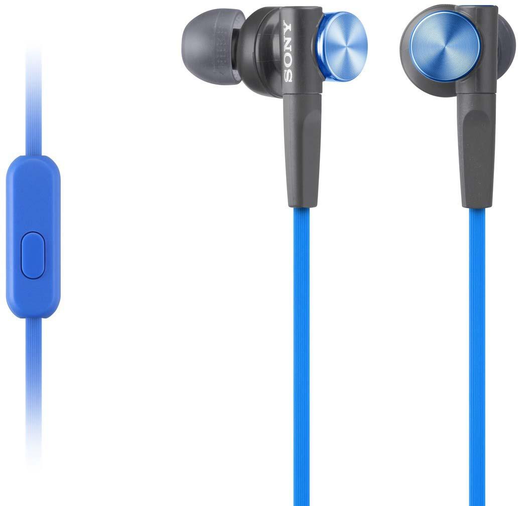 Наушники Sony MDR-XB50AP eXtra Bass, синий