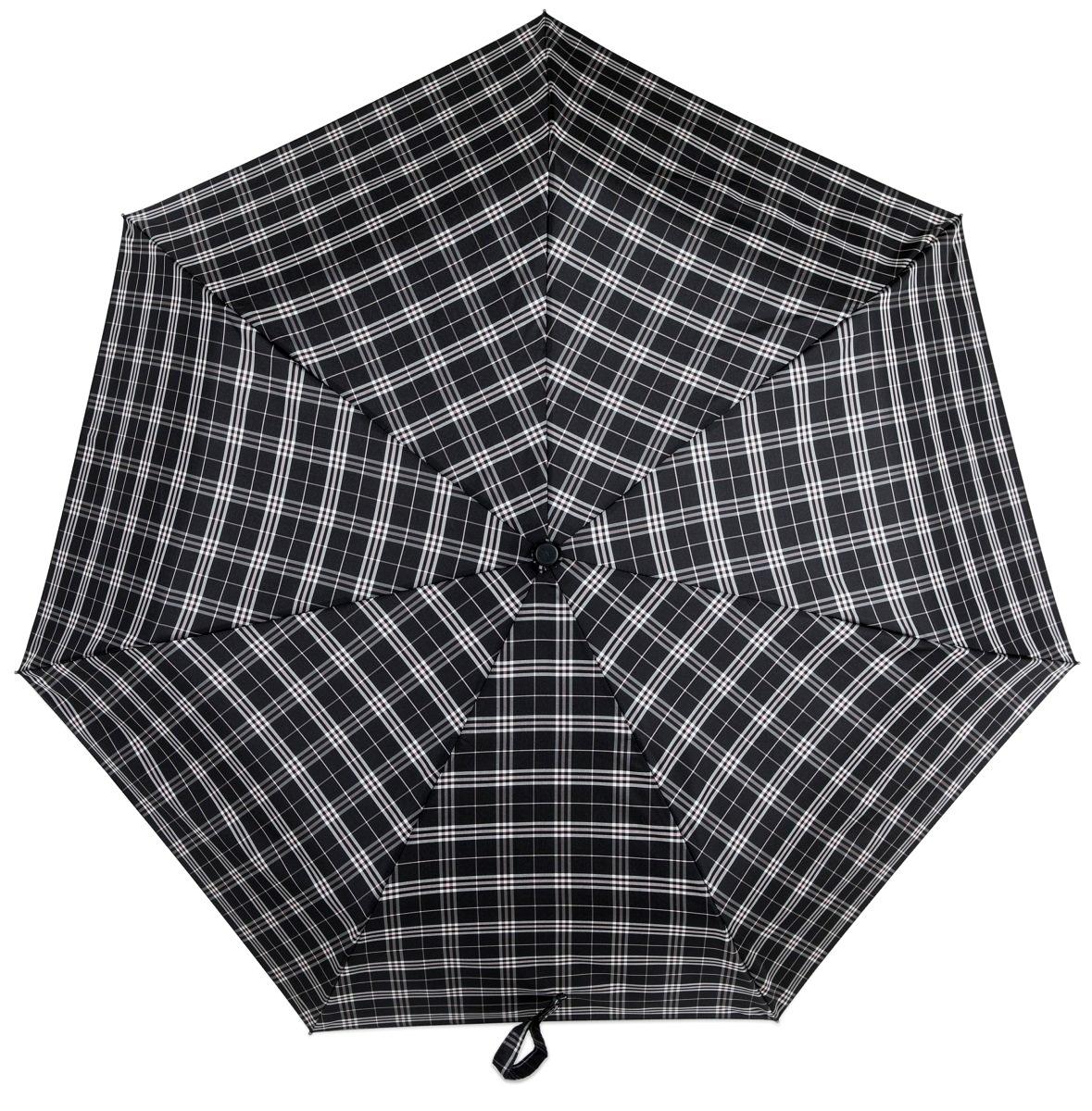 Зонт Три слона 367-D, черный, серый