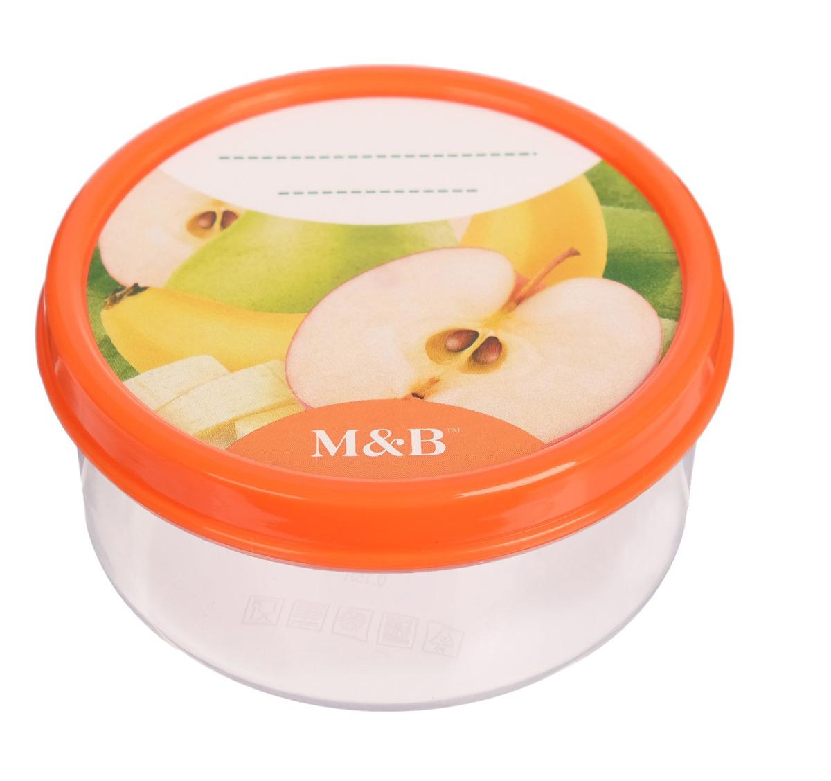 Контейнер пищевой Mum&Baby Фрукты, 3305613, для хранения детского питания, 150 мл контейнер пищевой вакуумный bekker квадратный 330 мл