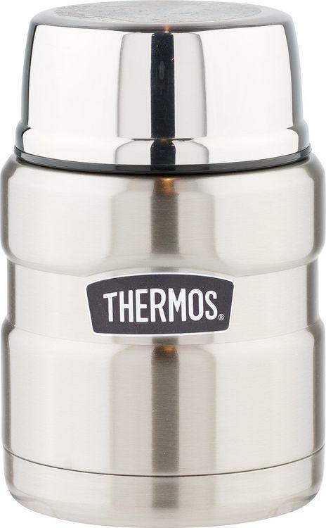 Термос Thermos King SK3000-SBK, с ложкой, 655332, серый металлик, 470 мл