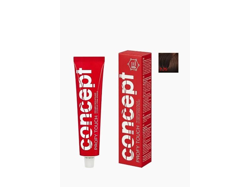 Стойкая крем-краска для волос Permanent color cream PROFY Touch 7.75 Светло-каштановый Concept 33491
