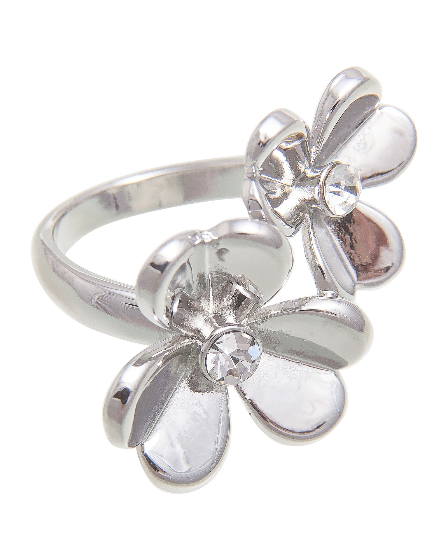 Кольцо бижутерное Aiyony Macie женский серебряный, R811032, серебристыйR811032Размер 18 Состав: сплав на основе латуни, стразы