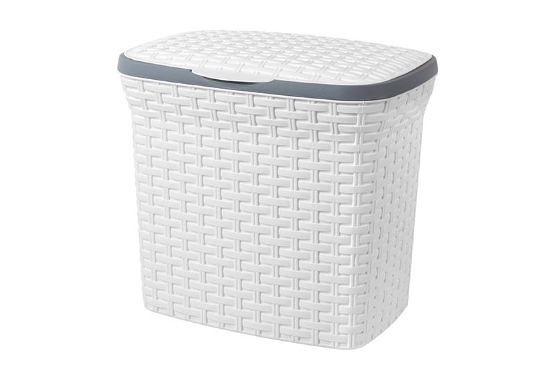 Контейнер для стирального порошка 10 л 28*20*27 см. Violet Ротанг (белый) (модель - 2111/06) контейнер для стирального порошка violet 2111 2 ротанг бежевый