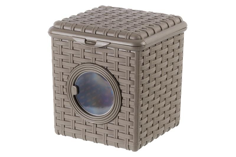 Корзина Violet Ротанг, 811297, коричневый, 16*18*18 см комплект wc violet 1301 3 ротанг голубой