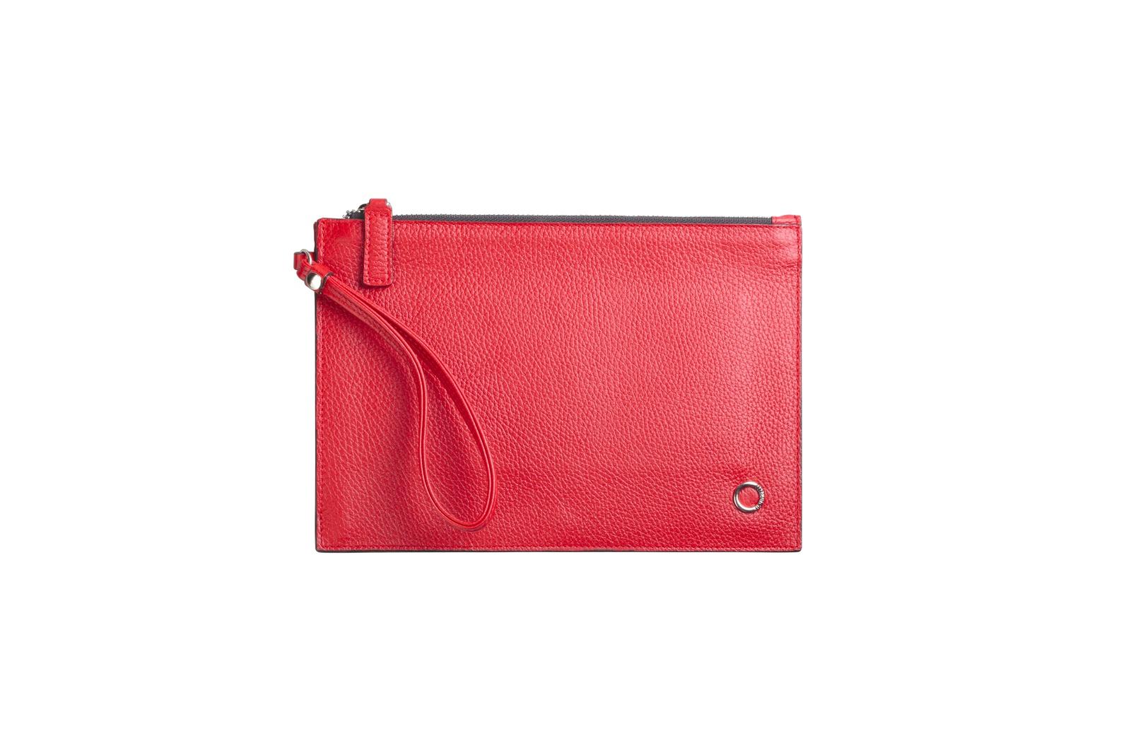 Сумка-конверт красная