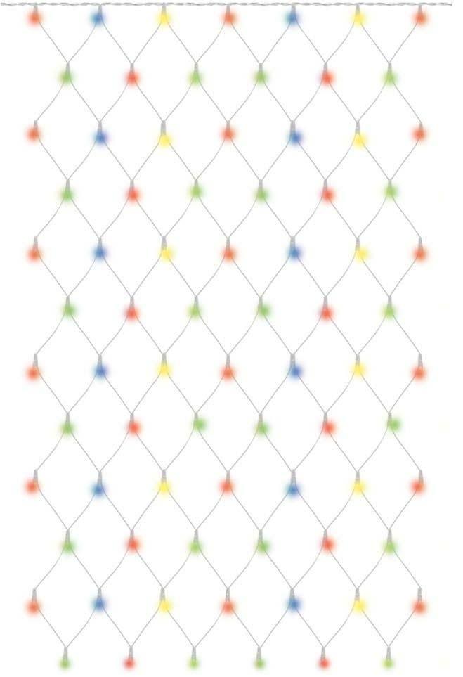 Гирлянда новогодняя TDM Electric Сеть, 1,5 х 1,5 м, RGB, наружное использование, IP44. SQ0361-0019 гирлянда тдм sq0361 0026 сосульки падающий белый свет 30см 8шт в комплекте 3 8м