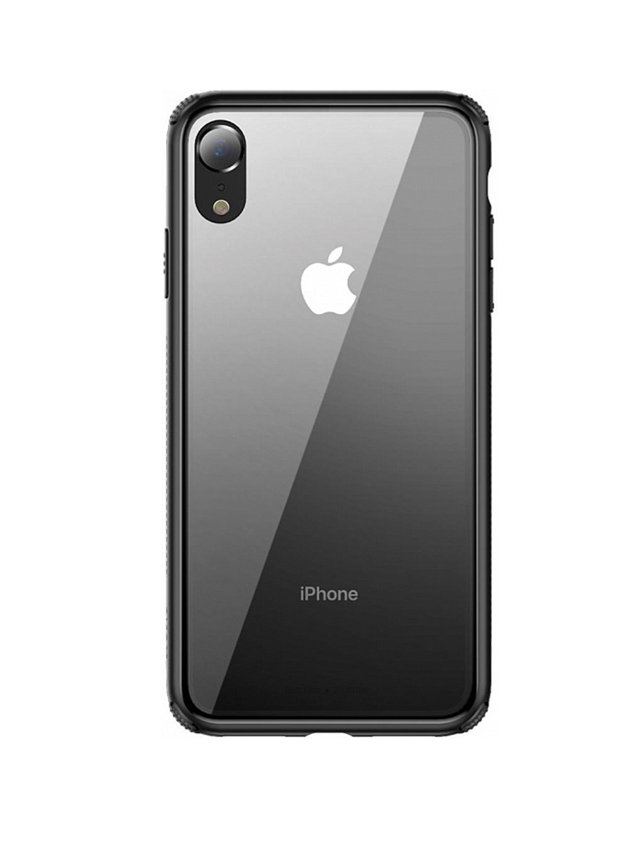 Чехол-накладка Baseus Apple iPhone XR Baseus See-through Glass, 572753, Black black see through mesh layered ruffled pleats dress