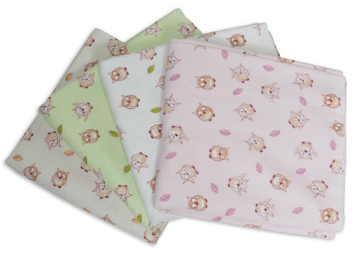 Пеленки Чудо-Чадо фланелевые, ПТФ03-001, 85х120 см, 4 шт